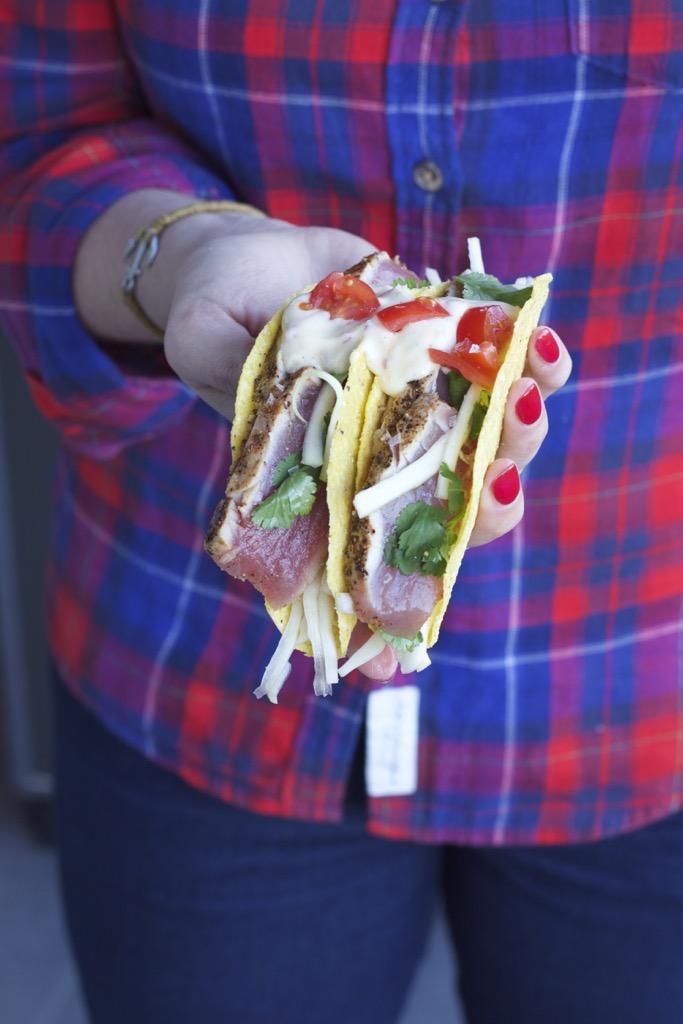 Thunfisch-Tacos, mein Grill und Karfreitag