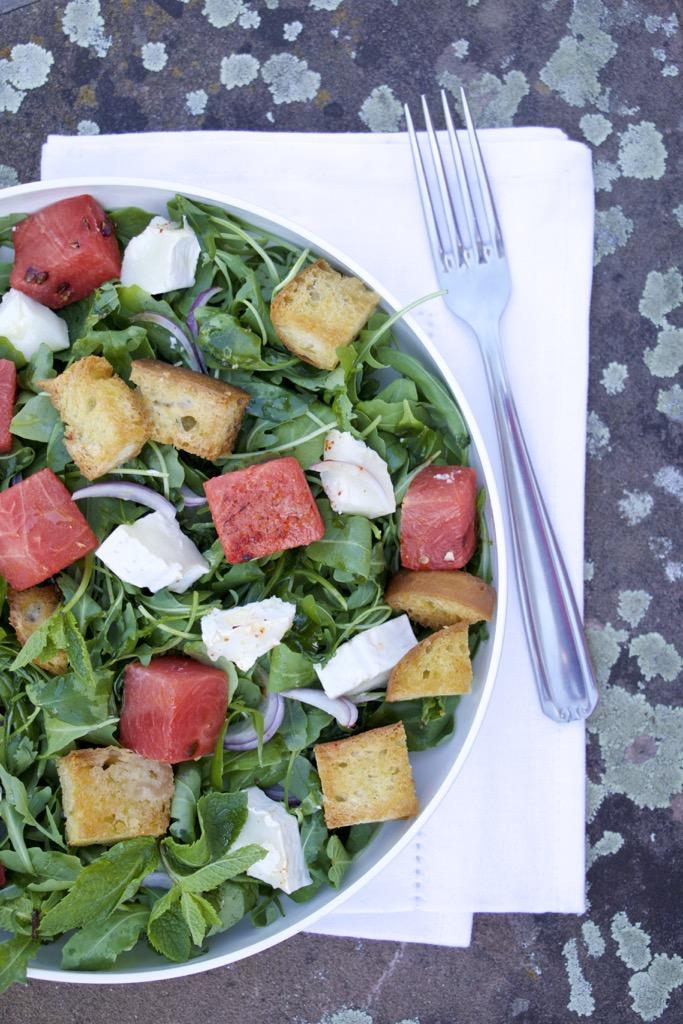 Panzanella mit gegrillter Melone