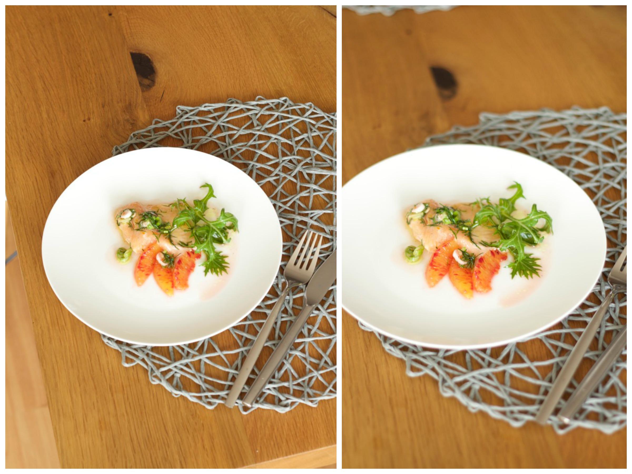 Lapin au vin - saftige Kaninchenkeulen im Kräuter-Speckmantel, Kardamom-Blutorangen-Möhrchen und Ingwer-Macaire-Kartoffeln